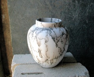 Horse Hair Vase or Jar