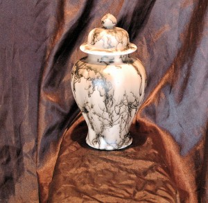 Horse hair Ginger Jar or Urn