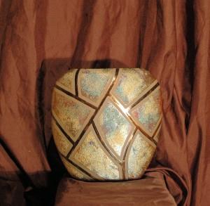 Medium Raku Pillow Vase