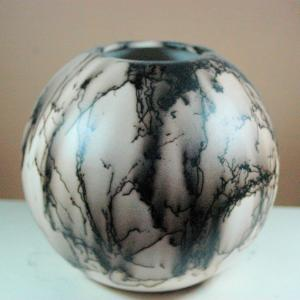 Small Horse Hair Ball Vase