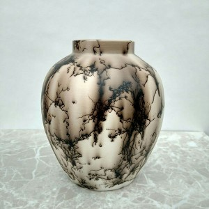 Small Horse Hair Vase or Jar