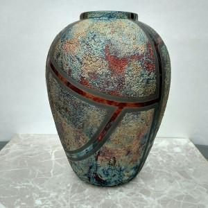 Medium Raku Vase or Jar
