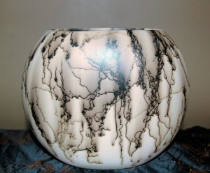 Wide Horse Hair Pillow Vase