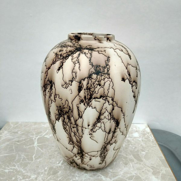 Horse hair Raku Fired Ceramic Pot