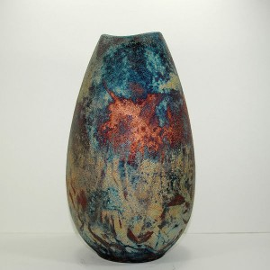 Medium Sized Raku Egg Vase