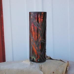 Raku Cylinder Vase