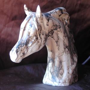 Horse Hair Horse Bust