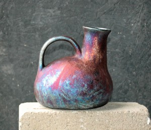 Southwest Raku Jug or Vase