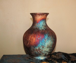 Medium Sized Raku Leisure Vase