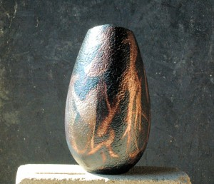 Egg Shaped Raku Vase