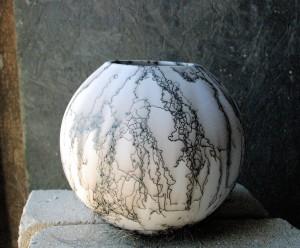 Horse Hair Ball Vase