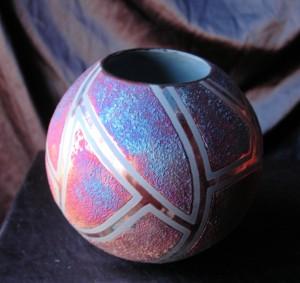 Medium Raku Ball Vase