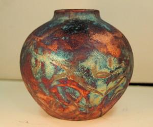 Small Round Raku Vase