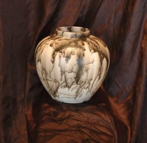 Large Round Horse Hair Vase