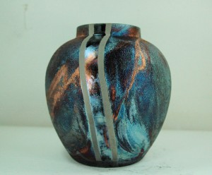 Small Raku Vase or Jar