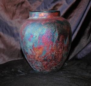 Raku Vase or Jar