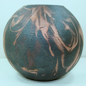 Medium Size Raku Ball Vase