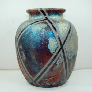Large Raku Vase or Jar