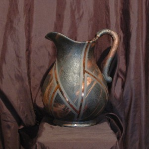 Large Raku Pitcher