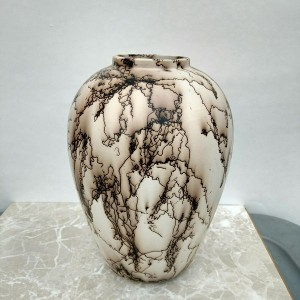 Medium Horse Hair Vase or Jar