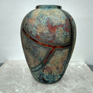Medium Raku Vase or Jar